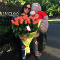 Delivery teddy bear and flowers at main street Dnipro