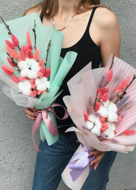 Authors bouquet of cotton Dnipro