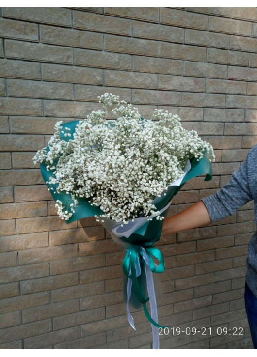 Bouquet of gypsophila