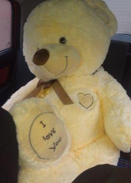 A huge teddy bear