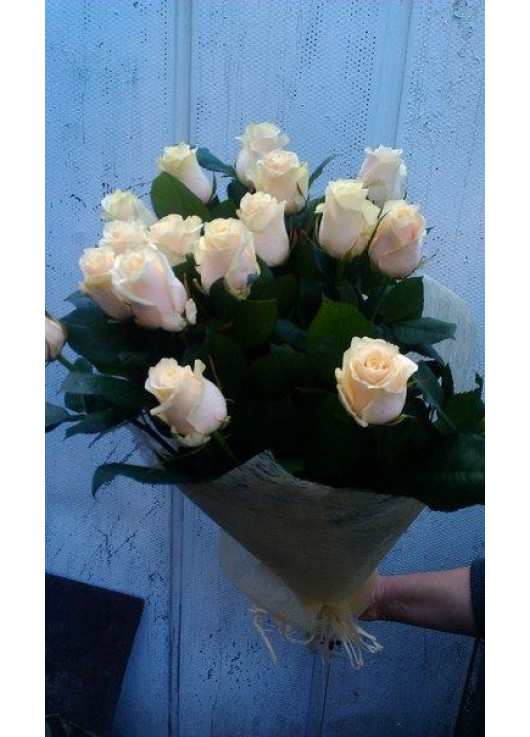 Cream roses by pieces