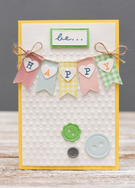 Handmade cards Be happy