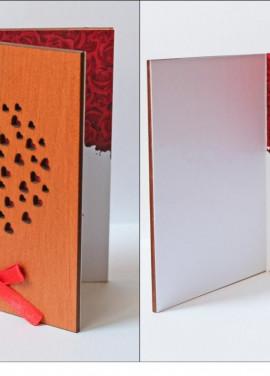 """Wooden postcart """"Love"""" art #005"""
