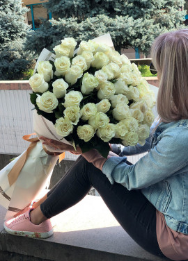 51 white meter Holland roses