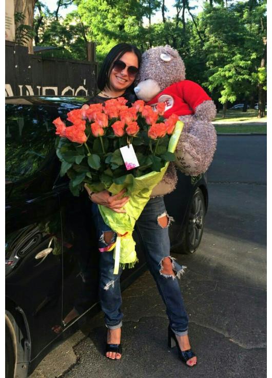 51 roses + big bear