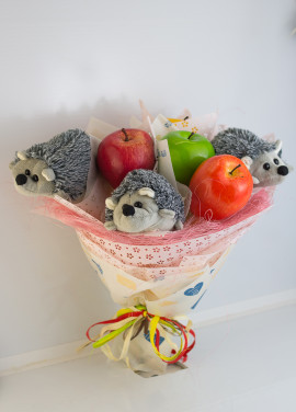 """Bouquet from toys """"Hedgehogs"""""""
