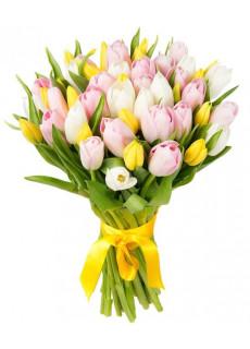 Bouquet of colorful tulips Ласковая моя