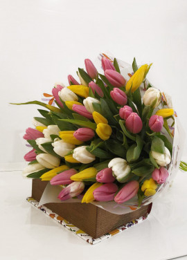 Bouquet of mix tulips